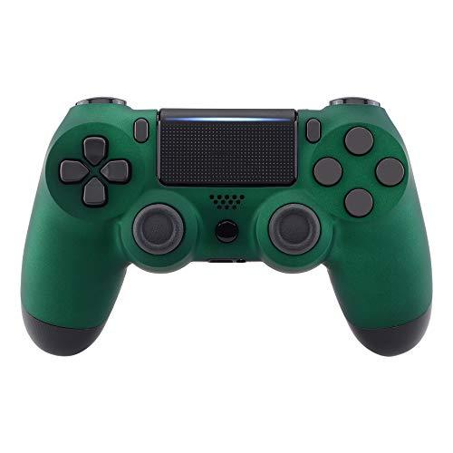 eXtremeRate PS4 Controller Gehäuse Hülle Oberschale Case Schale Shell Matt-Finish Ersatzschale Kit für Playstation 4 PS4 Pro Slim Controller CUH-ZCT2 JDM-040 JDM-050 JDM-055(Racing Green)