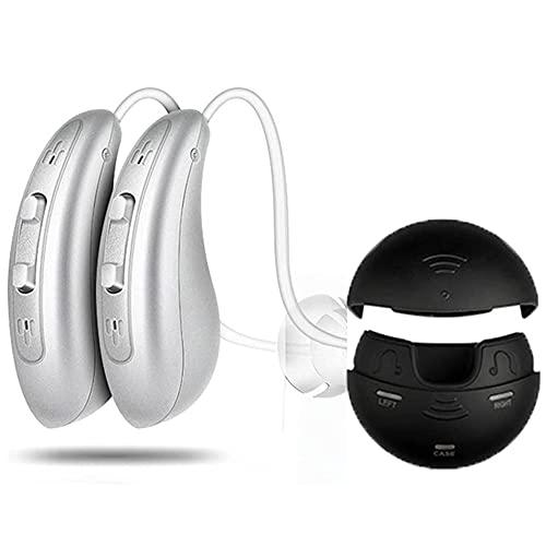 GYAM Amplificador de audición Digital, amplificadores de Audio de Mejora de la audición Personal con Estuche de Cargador USB portátil para Personas Mayores TV y conversación