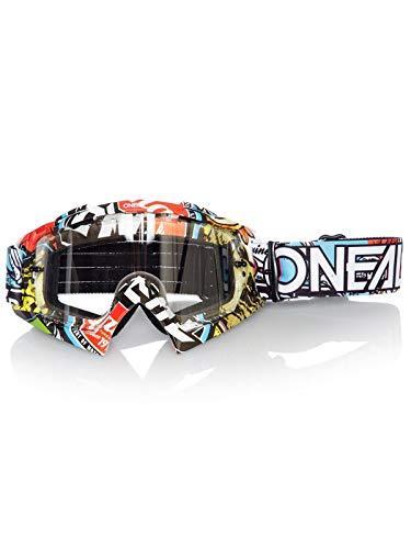 O'NEAL | Motocross-Brillen-Ersatzteile | Motorrad Enduro | Modernes Rahmendesign, Glas aus hochwertiger 1,2 mm-3D-Linse, 100% UV-Schutz | B10 Goggle | Crank Multi | One Size