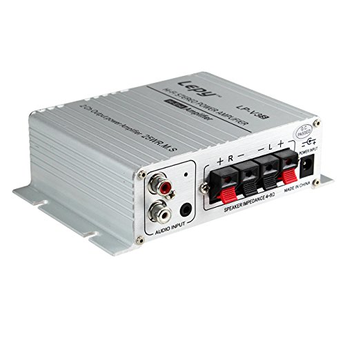 『Lepy 新モデル LP-V3S 25W×2 Hi-Fi デジタル オーディオ アンプ TA8254搭載 拭き布付き (銀)』の2枚目の画像