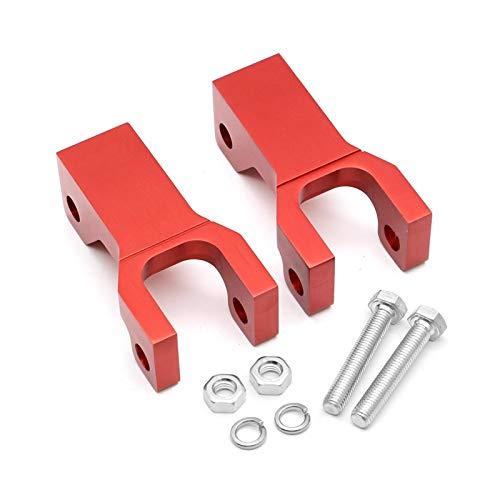 """furong 3.5"""" Front Tieferlegungssatz Drop-CNC-Aluminiumhalterung ATV Teile gepasst for Kawasaki Suzuki Arctic CAT DVX400 KFX400 LTZ400 LTZ 400 DVX KFX (Color : Red)"""