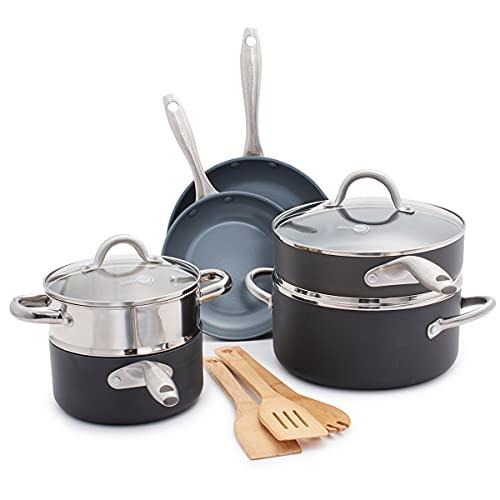 GreenPan Lima Healthy Ceramic Nonstick, Cookware Pots and Pans Set