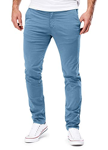 MERISH Chino Hosen Herren Slim Fit Jogger Hose Stretch Neu 401 (34-34, 401 Hellblau)
