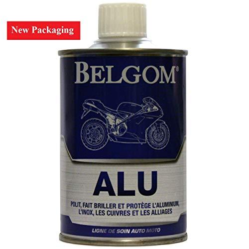 Belgom Alu Aluminium Politur 250ml + Poliertuch Gratis Motorrad Auto