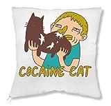 ShutUp Cocaine Cat Kissen