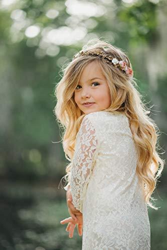 Child Flower Crown - Flower Crown Wreath - Gold