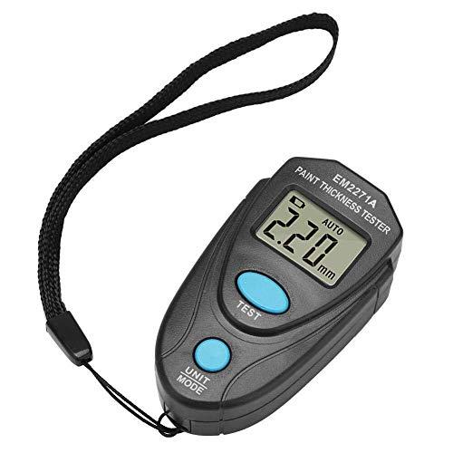 KAIBINY Medidor de medidor de grosor de Pintura Espesor Tester, 0.0mm ~ 2.0mm, 0mil ~ 80mil Mini pintar Pantalla LCD Digital Medidor de Espesor Recubrimiento de coches calibrador del metro Mesuring In