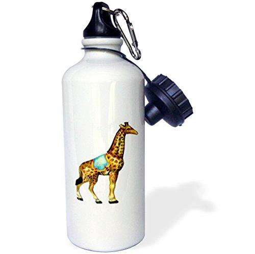 3dRose 7480_1 wb_40868_1 Water Bottle, Aluminum, Wh