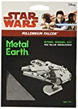 Star Wars-Maqueta de metal 3D Halcón Milenario, color plateado Earth MMS251 , color/modelo surtido