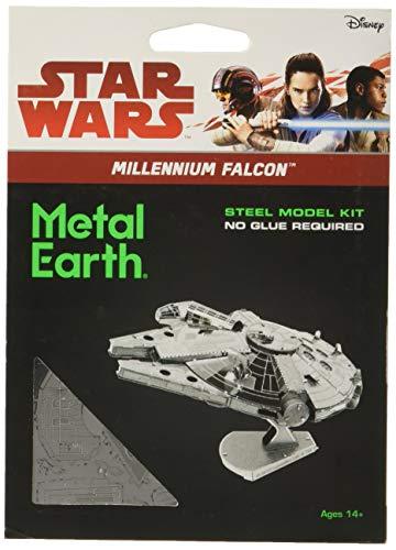 Star Wars-Maqueta de metal 3D Halcón Milenario, color plateado Earth MMS251 , color/modelo surtido