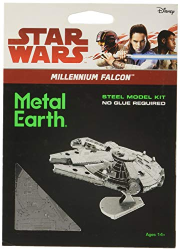 Star Wars-Maqueta de metal 3D Halcón Milenario, color plateado Earth MMS251 ,...
