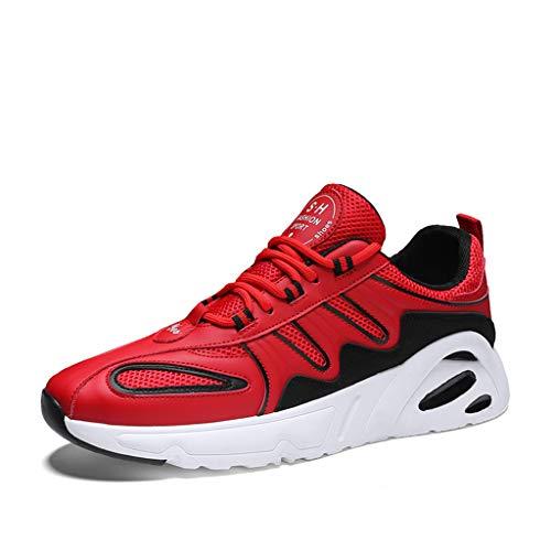 Hombres Para Mujer Zapatillas Para Mujer Entrenadores Deportes Ligeros Gimnasio Caminando Trotar Atlético Aptitud,Rojo,44
