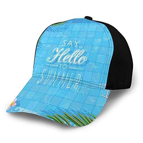 Gorra de béisbol lisa lavada, con diseño de flores y chanclas retro ajustable, regalo para hombres y mujeres