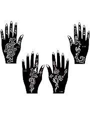 Tattoo sjabloon sjabloon 4 stuks set Henna ontwerpen voor eenmalig gebruik voor handen Mesha4