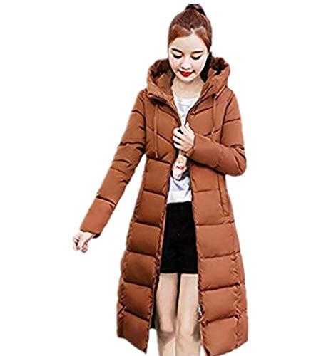 Warm Verdicken Gepolsterte Kapuze Damen Lässig Mode Winter Mantel Lange Jacken