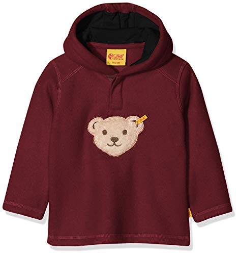 Steiff Baby-Jungen 1/1 Arm Fleece Sweatshirt, Rot (Burgundy|Red 2761), 62