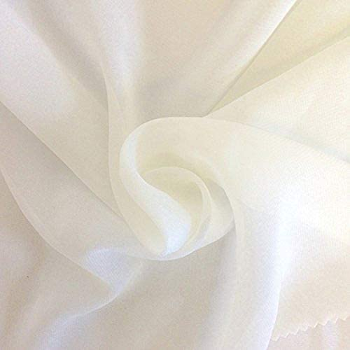 DJBM 59 Solid Color Sheer Chiffon Fabric Yards Continuous All Colors for DIY Decoration Valance product image
