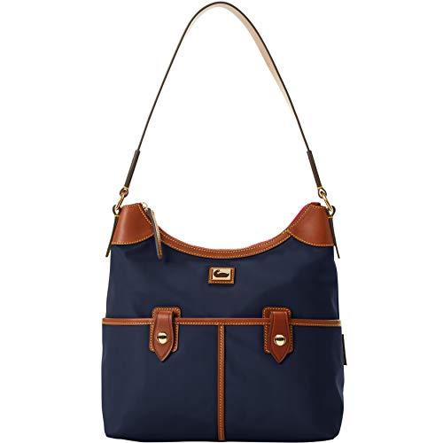 Dooney & Bourke Nylon Zip Hobo Bag - Navy Blue