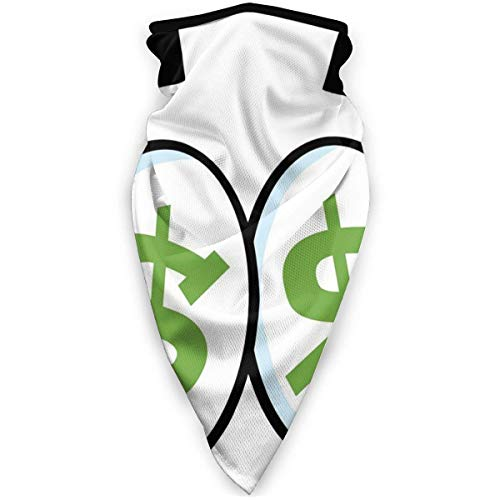Windproof Sports Scarf Eye Duvet Cover Set Green Dollar Signs in Big Cartoon Eyes Greed Unisex Outdoor Scarf Face Neck Gaiter Face Scarf Bandana Scarf for Men Women