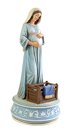 Avalon Gallery Mary Mother of God Resin Musical Figurine Statue, 9 1/4 Inch