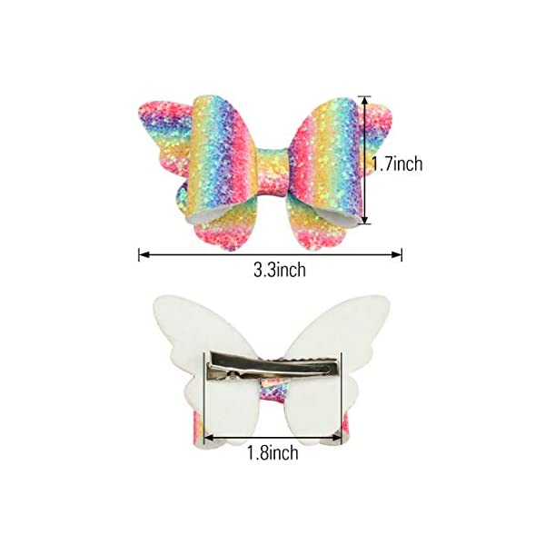 XIMA 10pcs Glitter Hair Bows Clips For Kids Girls Butterfly Hair Pin Accessoires Sparkly Bows Clips 4