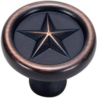 Hardware House 64-4286 Texas Star Style Cabinet Knob, Classic Bronze