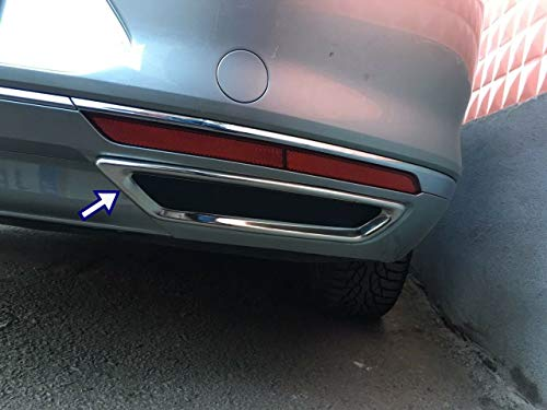 Passat B8 Limousine Edelstahl Chrom Auspuffblende Rahmen 2 Stück (2014–2017)