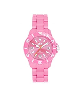 Ice Classic Solid Pink Dial Plastic Strap Men's Watch CSPKBP10