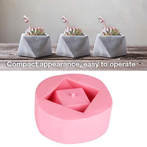 Bloempot siliconenvorm, doe-het-zelf vetculente bloempot vorm geometrische silicone bloempot decoratie gemakkelijk los te maken en te reinigen onregelmatige vorm