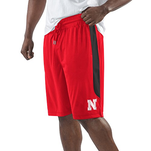 NCAA Nebraska Cornhuskers Men's Momentum Fashion Short, Large, Red