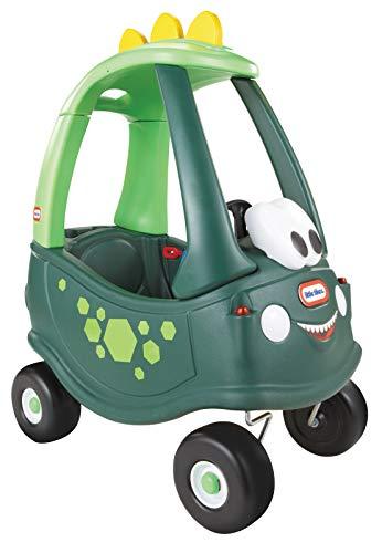 Little Tikes - Dino Cozy Coupe Gioco Cavalcabile con Clacson che Funziona Davvero, Interruttore di Accensione a Scatto e Tappo del Serbatoio