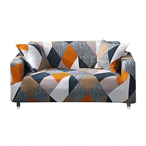 Funda elástica para sofá, Funda de Toalla de algodón, Fundas para sofá para Sala de Estar, Funda para sofá, Proteger Muebles A4, 4 plazas