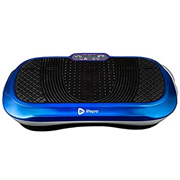LifePro Vibration Plate Exercise Machine - Whole Body Workout Vibration Fitness Platform w/Loop Bands - Home Training Equipment - Remote Balance Straps Videos & Manual