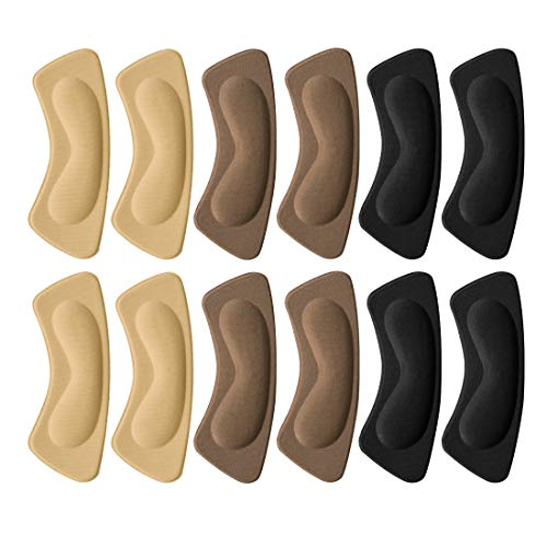 6 Paires Coussinets de Coussin, Coussinets Inserts de Talons Doublure Auto-Adhésif Semelles de Chaussure poignées, Protecteur de Soins des Pieds