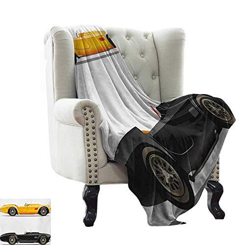 BelleAckerman - Manta de sofá Vintage, diseño Retro de cámara de Radio y Cassette con ilustración Colorida de Dispositivos de Medios de la Vieja Escuela, Microfibra Cama o sofá