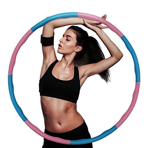 Faminess Hula Hoop Weighted Fitness Hula Hoop für Bewegung, professionelle Soft Fitness für Junge Erwachsene Damen