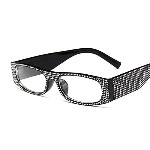 Hanpiyignstyj Gafas De Sol, Fashion Square Retro Gafas de Sol Señoras Retro Gafas de Sol Mujeres Océano Lente Pequeño Marco (Lenses Color : Black)