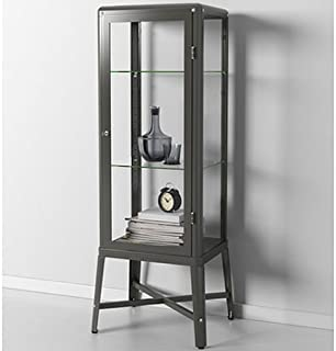 Ikea Fabrikor Glass Door Cabinet , Dark Gray, Lockable , Industrial Design