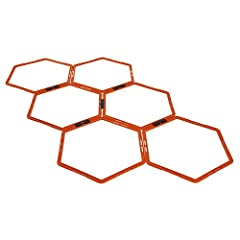 "SET OF 6 HEXAGON RINGS: This package includes 6 connected Hex rings, each separate ring has a 19"" diameter. Ideal speed Ring for plyometric training, including tuck jumps, squat jumps, burpees, moving push-ups to tone both your upper & lower body EAS..."