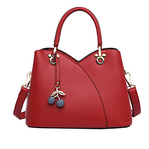 Tisdaini Damen handtaschen Mode All-Match Schultertaschen Shopper Umhängetaschen Rot