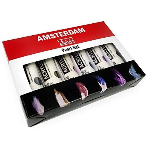 Royal Talens - Amsterdam Todos Acrílicos Pinturas - 6 X 20ml Tubos - Conjunto Perlas
