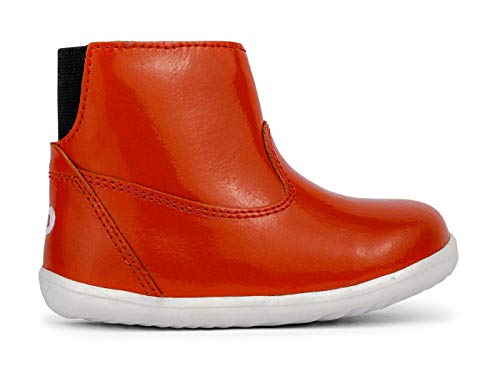 Bobux Step Up Paddington Winter Boots_Primeros Pasos - Una Bota de Piel, Forro de Lana Merino, Membrana Interna Impermeable al Agua (Orange, 20)