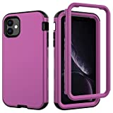 iPhone 11 Case, UZER 3 in 1 Soft Interior Silicone Bumper&Hard Shell PC Back Cover Bumper Shock-Absorption & Skid-Proof Anti-Scratch Full-Body Protective Case for iPhone 11 6.1' (2019 New Realease)