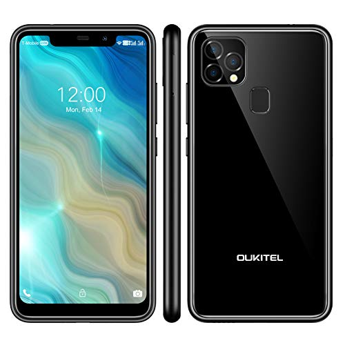 OUKITEL C22 Unlocked Smartphones (2021 New) 128GB/4GB Android 10 Unlocked Cell Phones with Dual Sim 256GB Expandable 5.86'' 4000mAh Face ID + Fingerprint GSM 4G LTE International Phones