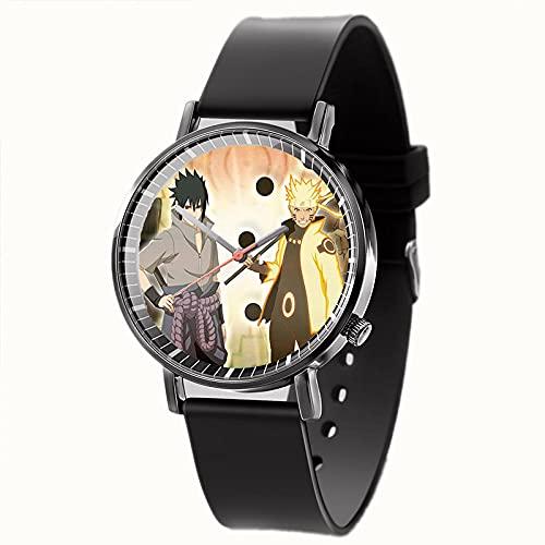 Nuevo Reloj de Moda para Hombres y Mujeres, Reloj de Dibujos Animados Naruto, Reloj Femenino de Acero Inoxidable, Reloj de Cuarzo para niños-C