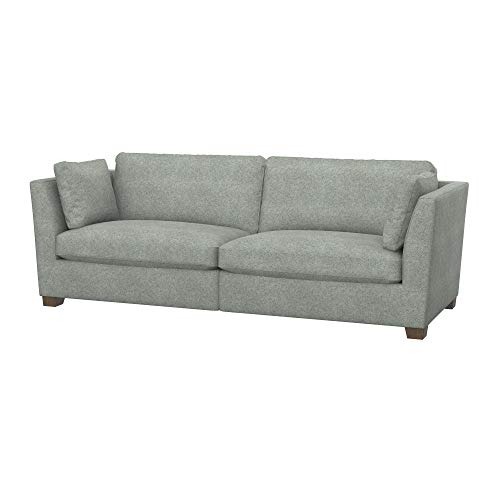 Soferia Funda de Repuesto para IKEA Stockholm sofá de 3,5 plazas, Tela Strong Light Grey, Gris