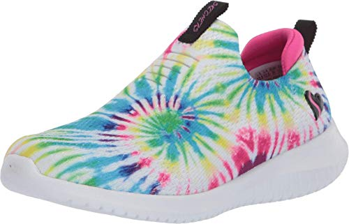 Skechers Kids Girl's Ultra Flex-Groovin Vibes Sneaker, Multi, 4 Medium US Big Kid