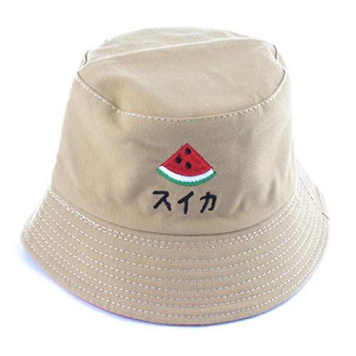 Bucket Hat Hut Reversible Eimer Hut Baumwolle Sonnenhut Cartoon Stickerei Kleinkind Eimer Kappe Jungen Mädchen Fischerhut Wassermelone