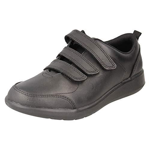 Clarks School, Chaussures Basses pour Garçon - Noir - Noir, 17 EU