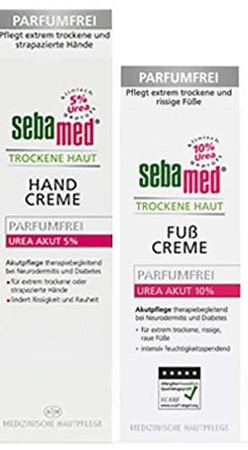 Sebamed Hand- und Fußset, Sparset, Handcreme für trockene Haut parfumfrei mit Urea 5%, Fußcreme Parfumfrei Urea 10%